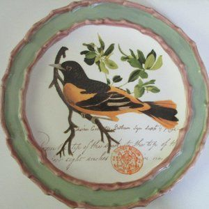 British Museum Nesting Nature bird plate